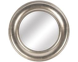LUSTRO designerskie FAUNA w srebrnej ramie okrągłe FI 74