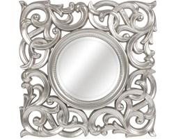 LUSTRO MEDALION srebrnej w błyszczącej ramie kwadrat 71X71