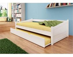 Białe łóżko bukowe Anna