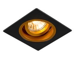 Spot Olivia kwadratowy czarny ze złotym wnętrzem płaski
