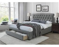 AVANTI łóżko tapicerowane, 160 cm z szufladami popiel