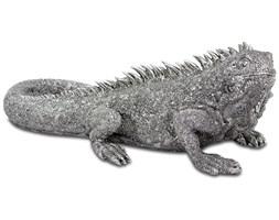 IGUANA figurka srebrna, 16x40x18 cm