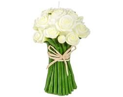 Świeczka dekoracyjna kształt bukietu kwiatów, Atmosphera créateur d'intérieur, białe kwiaty