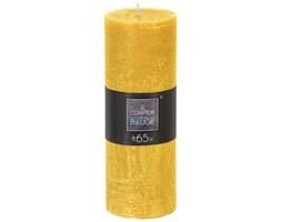 Świeca dekoracyjna żółta 6,7x 18,9 cm