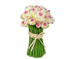 Świeczka dekoracyjna kształt bukietu kwiatów, Atmosphera créateur d'intérieur, różowe kwiaty