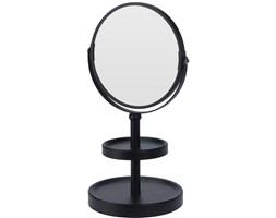 Lusterko kosmetyczne, metalowe Ø 15 cm, kolor czarny