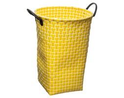 Kosz na pranie, bieliznę ERIKA, okrągły pojemnik, kolor żółty