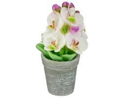 Świeczka dekoracyjna w kształcie orchidei w doniczce, Atmosphera créateur d'intérieur, białe kwiaty