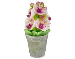 Świeczka dekoracyjna w kształcie orchidei w doniczce, Atmosphera créateur d'intérieur, różowe kwiaty