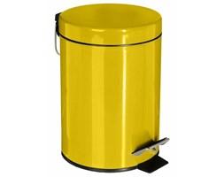 Kosz łazienkowy na śmieci wykonany z metalu w kolorze żółtym, 3l
