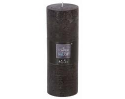 Świeca dekoracyjna, czarna świeczka, 6,7x 18,9 cm