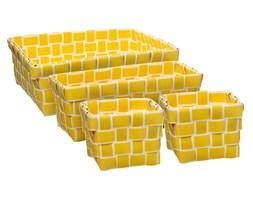 Kosze do przechowywania ERIKA, organizery, kolor żółty, 4 sztuki w komplecie
