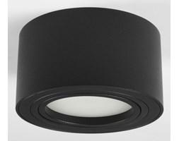 Nowoczesna oprawa sufitowa GX53 okrągła ruchoma czarna czarny mat aluminiowa