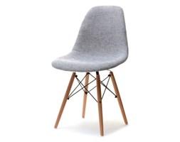 Krzesło MPC wood tap szare na drewnianych nogach