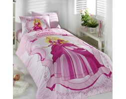 c8a8e1f6f9b9f0 Dziecięca pościel Princess 160x220 cm z poszewką na poduszkę 50x70 cm i z  prześcieradłem różowy