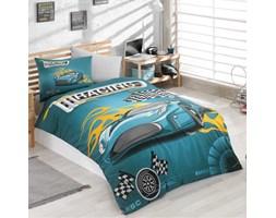 f3ed81a85ba2a8 Dziecięca pościel Racing 160x220 cm z poszewką na poduszkę 50x70 cm i z  prześcieradłem turkusowy