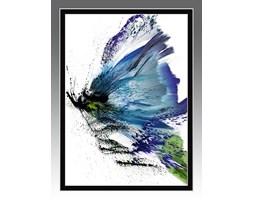 Abstrakcyjny obraz do nowoczesnych wnętrz. Motyl BLUE ME. Seria Effect