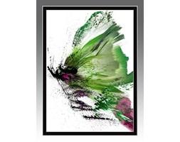 Ekspresyjny obraz do nowoczesnych wnętrz. Motyl GREEN ME. Seria Effect