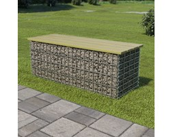 ławka ogrodowa fragina 120 cm - gabionowa