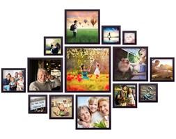 Drewniana Multirama Emily Kwadratowe na 14 zdjęć z szablonem