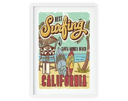 Plakat w ramie BEST SURFING