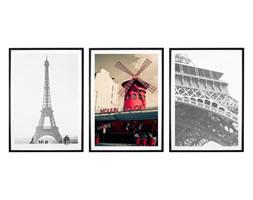 Tryptyk Paris - Plakaty w ramach (3x 30x40cm)