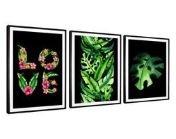 Tryptyk Leaves - Plakaty w ramach (3x 30x40cm)