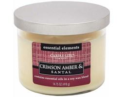Świeca zapachowa Candle-lite Essential Elements naturalna olejki eteryczne - Crimson Amber & Santal