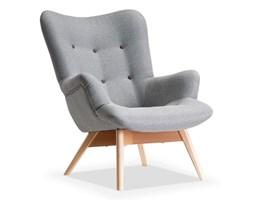 Skandynawski fotel uszak FLORI tkanina szary
