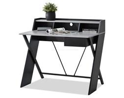Designerskie biurko z nadstawką ASGARD czarne/beton