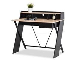 Designerskie biurko z nadstawką ASGARD czarne/sonoma