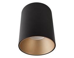 Spot sufitowy designerski tuba EYE TONE czarny/złoty śr. 8,9cm
