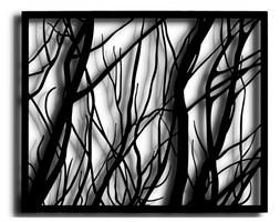 Obraz HEDVIG Czarny 100x80 cm