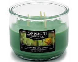 Świeca zapachowa Candle-lite trzy knoty 283 g - Morning Dew Drops