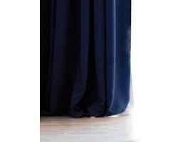 DecoKing - Zasłony Welurowe Granatowe Gładkie PIERRE 140cm x 270cm