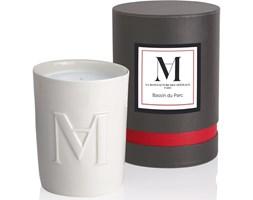 La Manufacture Parfums Bougie Candle luksusowa świeca zapachowa w białej ceramice - Bassin Du Parc