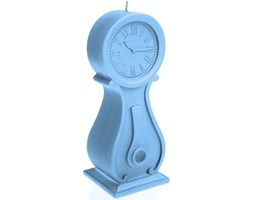 Candellana Clock Candle świeca dekoracyjna zegar - Light Blue Pearl