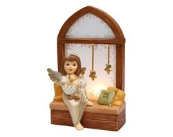 Świecznik Z Aniołem Kiedy Śnieg Za Oknem wys 20cm