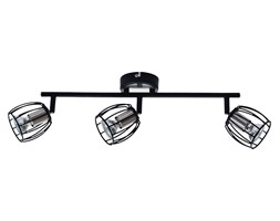 ZONK LAMPA SUFITOWA LISTWA 3X3W LED GU10 CZARNY MATOWY+SATYNA NIKIEL