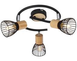 ANTICA LAMPA SUFITOWA SPIRALA 3 X MAX 25W E14 CZARNY + DREWNO