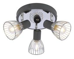 MODO LAMPA SUFITOWA PLAFON 3X40W E14 CZARNY+CHROM