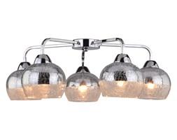 Ekskluzywny Plafon CROMINA LAMPA SUFITOWA 5X60W E27 CHROM Oprawa Klosz Okrągłe Szkło Oświetlenie Candellux
