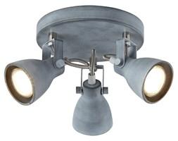 ASH LAMPA SUFITOWA PLAFON 3X40W GU10 SZARY MAT