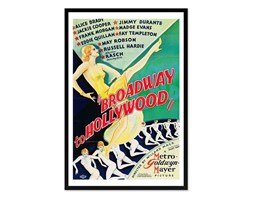 PLAKAT - BROADWAY TO HOLLYWOOD obraz w czarnej ramie, 63x93 cm