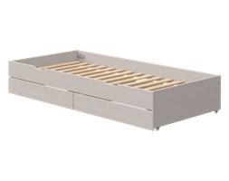 Łóżko wysuwane krótsze Trundle z wycięciami, z szufladami,