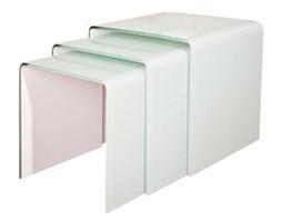 Zestaw stolików szklanych PRIAM TRIO, biały