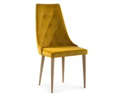 krzesło CARO VELVET miodowy/dąb Bettso