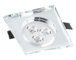 Nowoczesna Oprawa Sufitowa Nadtynkowa CRYSTAL Srebrny Kwadrat Oświetlenie LED Lampa Auhilon
