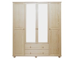 Szafa 4-drzwiowa z lustrem sosnowa Klasyk SF-02