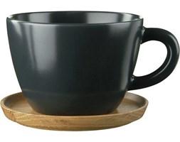 Filiżanka do herbaty z podstawką Höganäs Keramik grafitowa